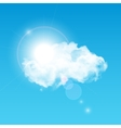 Sun Shining Through Cloud vector image
