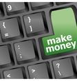 Keyboard - green key Make money business concept vector image