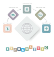 Infographics with icons vector image