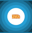 isolated holland cheese flat icon cheddar slice vector image