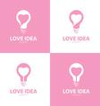 Love idea icon symbol set vector image