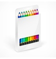 Pencil boxes Color vector image