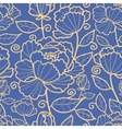 Royal flowers and leaves seamless pattern vector image