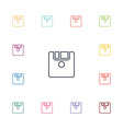 save flat icons set vector image