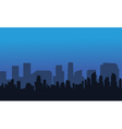 Silhouette of big city at night vector image