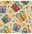 Seamless pattern with colorful gift boxes vector image vector image