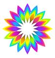 abstract geometric rainbow flower vector image