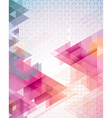 Sunset Triangles vector image