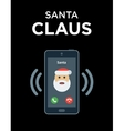 Marry Christmas phone call from Santa vector image