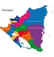 Nicaragua map vector image vector image