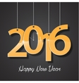 Happy new year golden 2016 creative greeting card vector image vector image