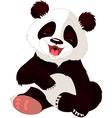 cute baby panda vector image