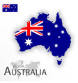 australia flag and map vector image