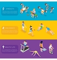Fitness banners vector image