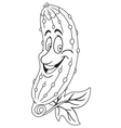Fresh cucumber cartoon vector image