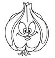 fresh garlic cartoon vector image