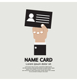 Hand Holding Name Card vector image