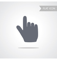 Hand Icon isolated on white Background vector image