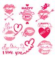 lips signs 380 vector image