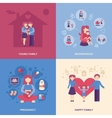 Motherhood Flat Set vector image