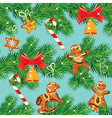 Seamless pattern with Christmas fir tree branches vector image