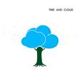 Tree Cloud Logo design template vector image