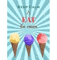 Set of ice cream cones EPS vector image