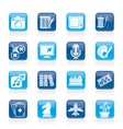 Hobbies and leisure Icons vector image