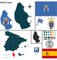 Map of Melilla vector image