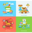 Flat Toys Set vector image