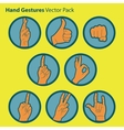 Hand gesture icon set vector image