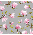 Seamless Floral Pattern Magnolia Flowers vector image vector image