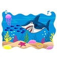 Shark cartoon vector image