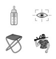 child fishing and other monochrome icon in vector image