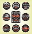 grunge retro labels vector image