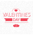 valentines day on scribble abstract pattern white vector image