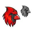 Red cardinal bird in cartoon style vector image vector image