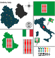 Map of Umbria vector image vector image