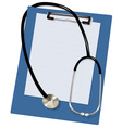 Stethoscope and blank vector image