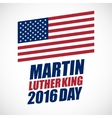 Martin Luther King Day national holiday vector image