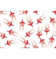 Seamless background with aircrafts vector image