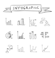 Business doodle graphs vector image