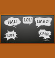 expression words on blackboard vector image