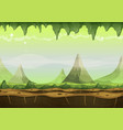 fantasy sci-fi alien landscape for game ui vector image