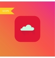 flat design cloud icon element vector image