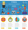 healthy lifestyle infographics vector image