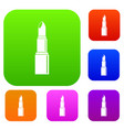 lipstick set color collection vector image