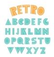 Retro english alphabet vector image