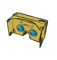 Simple VR cardboard glasses vector image