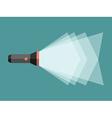 Flashlight with light beam vector image